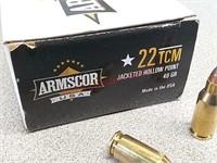 112 rounds 22 TCM ammo ammunition Armscor and