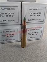 100 rds green tip 5.56 ammo ammunition FMJ