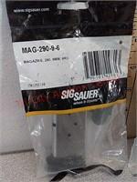 2 new Sig Sauer 9 mm 6 round 290 magazines
