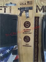2 new 30 rd AR-15 rifle magazines Mission first