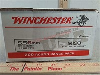 200 rds Winchester 5.56 FMJ ammo ammunition bulk