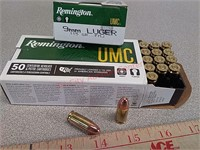 100 rds Remington UMC 9 mm FMJ ammo ammunition
