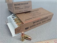100 rds Winchester 9 mm FMJ ammo ammunition
