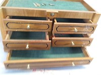 North American hunting club display case, needs
