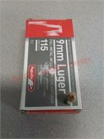 50rds Aguila 9mm 115gr fmj ammo ammunition
