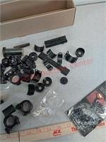 misc scope rings, parts, fiber optic sights