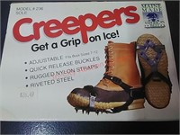 Ice Fishing creepers, ice well, auger blades,