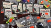 New Fishing Jigs, Spinners, Night Crawlers, etc