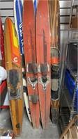 Water Skiis. 3 Sets & a Slalom ski.