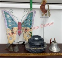 Fountain (tested & come on), Yard Art,& Bells