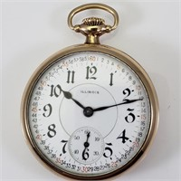 ILLINOIS POCKET WATCH - A. LINCOLN - 1914 - 21j