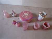 PINK DRESSING TABLE ITEMS
