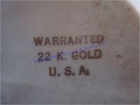 VASE W/ 22 KT GOLD