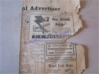 OLD RED CLOUD ADS