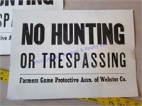 WEBSTER CO NO HUNTING SIGNS