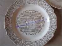 1958 CALENDAR PLATES
