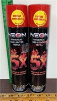 2 Butane Gas Lighter Refill Cans 10.14 oz each