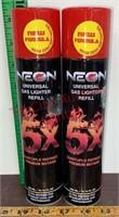 2 Butane Gas Lighter Refill Cans. 10.14oz. Each