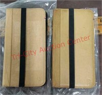 2 New leather phone wallet cases for iPhone 7P.