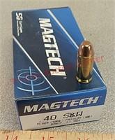 50 rds Magtech 40s&w cal fmj ammo ammunition