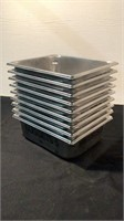 (10) Stainless Steel Pans