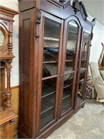 LARGE WALNUT VICTORIAN 3 BOOKCASE