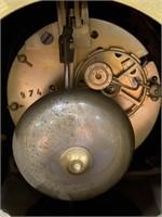 ANTIQUE OPEN ESCAPEMENT FRENCH GARNITURE CLOCK SET