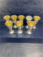 8 SOLID STERLING SILVER GOBLETS 34 OUNCES