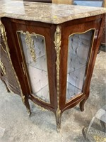 FRENCH MARBLE TOP CREDENZA