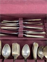 66 PIECES TOWLE CHASED DIANA STERLING FLATWARE