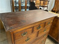18TH CENTURY CHERRY NEWMARKET TALL CHEST