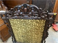 VICTORIAN BLACK FOREST FIRE SCREEN