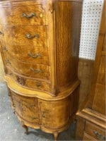 INLAID SATIN WOOD ROUNDED CHEST ON CHEST