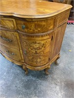 SATINWOOD FRENCH INLAID CHEST