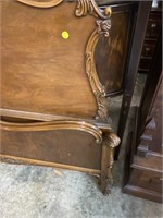 WALNUT FRENCH INLAID BED