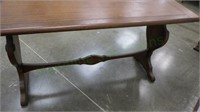 Unique size solid wood table for tight spots!