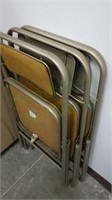 Lot of vintage Samsonite folding chairs!