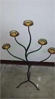 Unique metal art floral design candle holder!