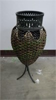 Metal frame and rattan plant holder!