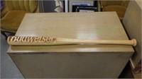 Unique Budweiser carved full size bat!