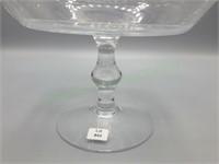Beautiful spun & blown glass high dome compote!