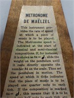 Vintage Seth Thomas wood case Metronome!
