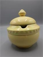 Vintage Gail Pittman ceramic sugar bowl with lid