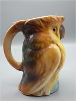 Art Deco style hand-painted Cockatoo pitcher!