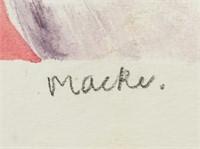 August Macke German Watercolor on Paper