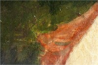 French Oil on Canvas Signed Degas Galerie Mathias