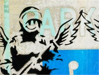 Banksy British Reflective Sign Spray Paint