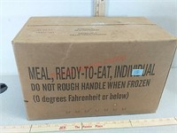 Box of MRE prepper emergency food – never opened