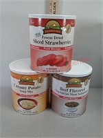 3 MRE canned food items prepper emergency food –