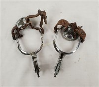 Pair Of Vintage Cowboy Spurs W/ Steer Head